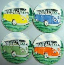 Set of 4 Volkswagen (VW) Campervan Coasters