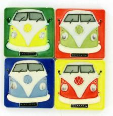 Set of 4 Volkswagen (VW) Campervan Fridge Magnets