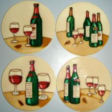 Set of 4 Wine Coasters