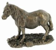 Shetland Pony Cold Cast Bronze Sculpture