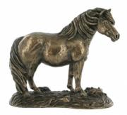 Shetland Pony Cold Cast Bronze Sculpture by Harriet Glen