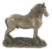 Shire Horse Cold Cast Bronze Sculpture
