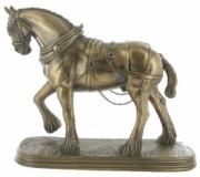Shire Horse, Cold Cast Bronze Sculpture by Beauchamp Bronze
