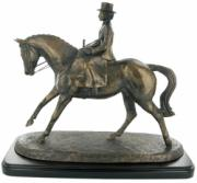 Side Saddle Cold Cast Bronze Sculpture by Harriet Glen