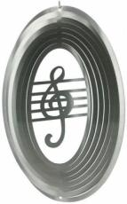 Silver Music Note Stainless Steel Wind Spinner