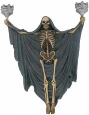 Skeleton Wall Candle Sconce by Alchemy