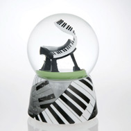 Stylistic Piano Waterglobe