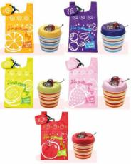 Sunshine Mousse Cake Shopping Bags (Set of 5 Assorted Colours)