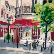 The Crepe House Ceramic Picture Tile by Brent Heighton 8