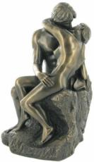 The Kiss Cold Cast Bronze Sculpture by Love Is Blue