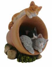 Three Kittens Asleep