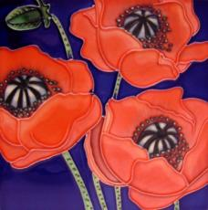 Three Poppies Ceramic Picture Tile by W Rafuse 8