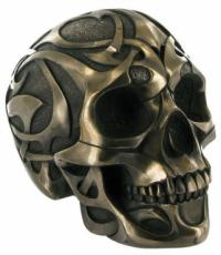 Tribal Skull 2 (Large) in Bronze Finish by Design Clinic