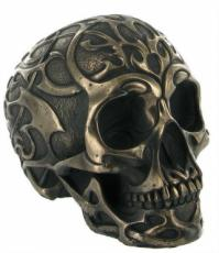 Tribal Skull 2 (Medium) in Bronze Finish by Design Clinic