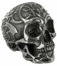Tribal Skull 2 (Medium) in Silver Finish by Design Clinic