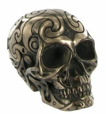 Tribal Skull 2 (Small) in Bronze Finish by Design Clinic