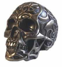 Tribal Skull in Bronze Finish by Design Clinic