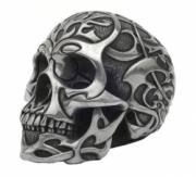 Tribal Skull in Silver Finish by Design Clinic