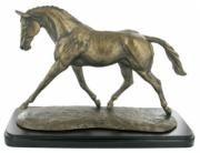 Trotting Warmblood Cold Cast Bronze Sculpture by Harriet Glen