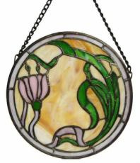 Tulip Circle, Stained Glass Panel