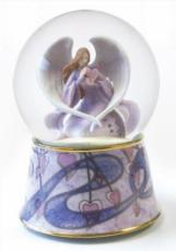 Twinkle Angel Holding a Heart Snowglobe (Tune: Song of Love)