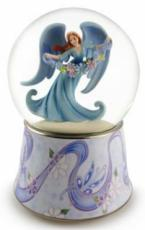 Twinkle Angel With Flowers Snowglobe (Tune: Over The Rainbow)