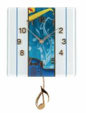 Twinkle Blues Saxophone Glass Wall Clock