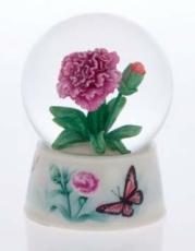 Twinkle Carnation with Butterfly Base Snowglobe (no music)