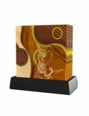 Twinkle Set of 4 Romantic Guitars Glass Coasters