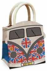 Union Jack Camper Van Jute Bag