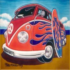 Vantasy Campervan Ceramic Picture Tile By Peter Adderley 12