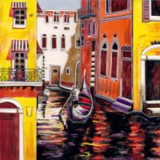 Venice Afternoon Ceramic Picture Tile by Brent Heighton 12