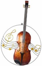 Violin Wall Art, Metal Decor x2