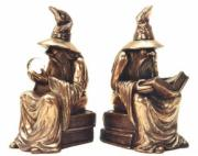Wizard Bookends in Bronze Finish by Design Clinic