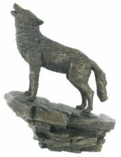 Wolf, Cold Cast Bronze Sculpture by Beauchamp Bronze