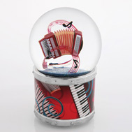 Funky Accordion Waterglobe